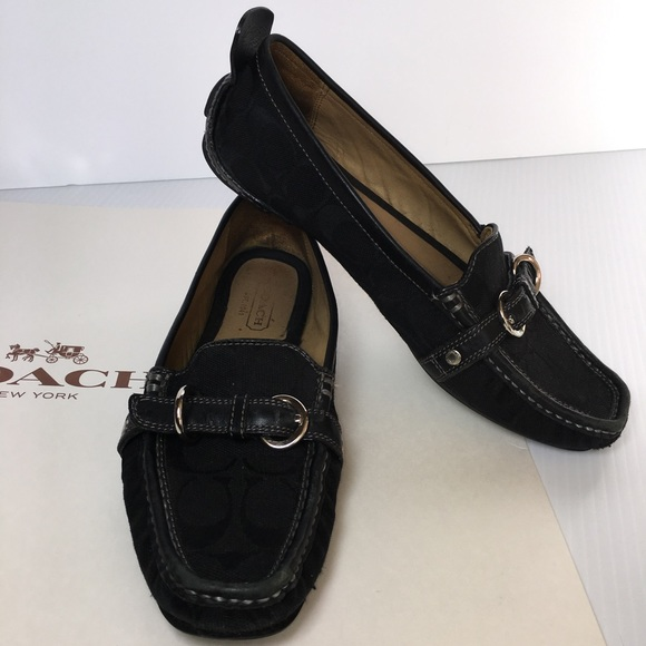 8bef58553d3 Coach Shoes - Price Drop❤️Coach Black Loafers Shoes Jillian 7.5